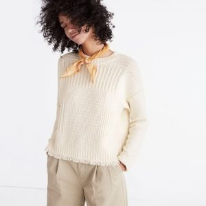 Madewell cream color wool blend chucky sweater